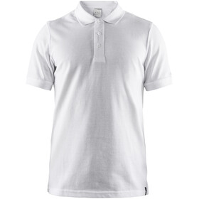 Craft Casual Pique Poloshirt Heren, white